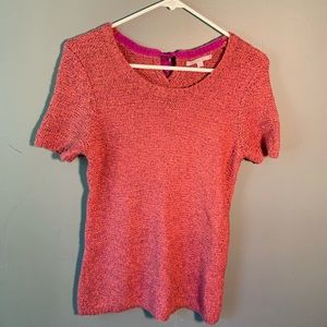 GAP Short Sleeve Sweater Dress Pink Orange